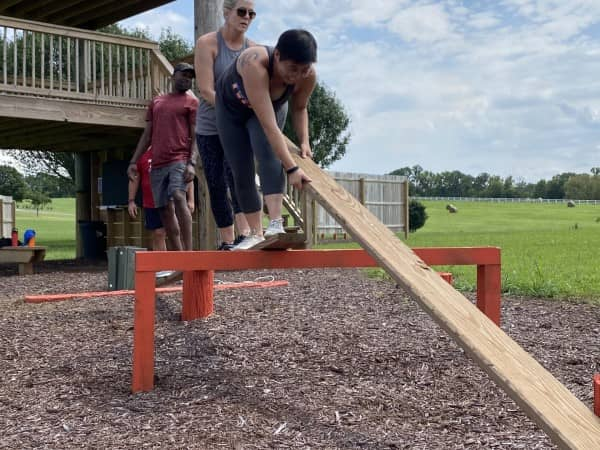 people on obstacle course Rock Springs